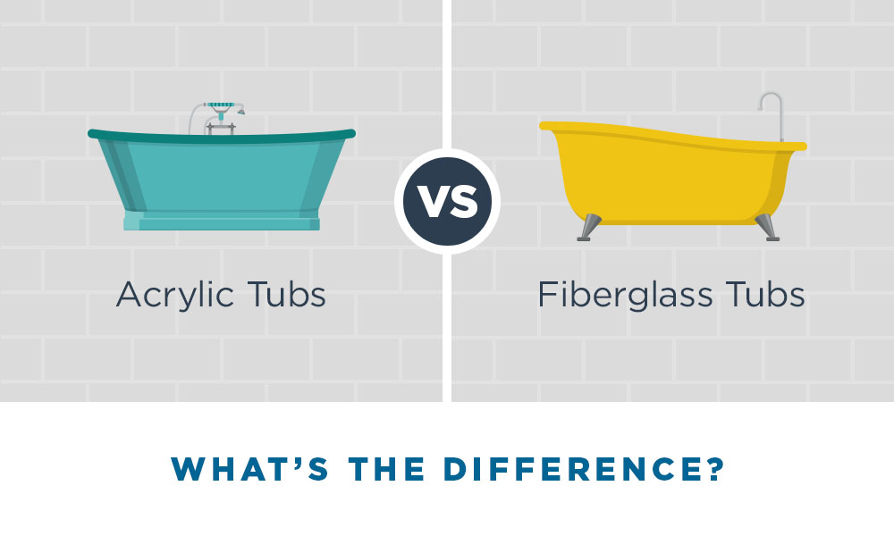 What's the difference between acrylic and fiberglass tubs